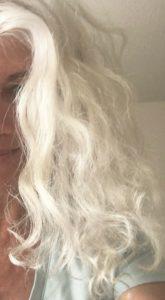Me white hair half. April 9 2016